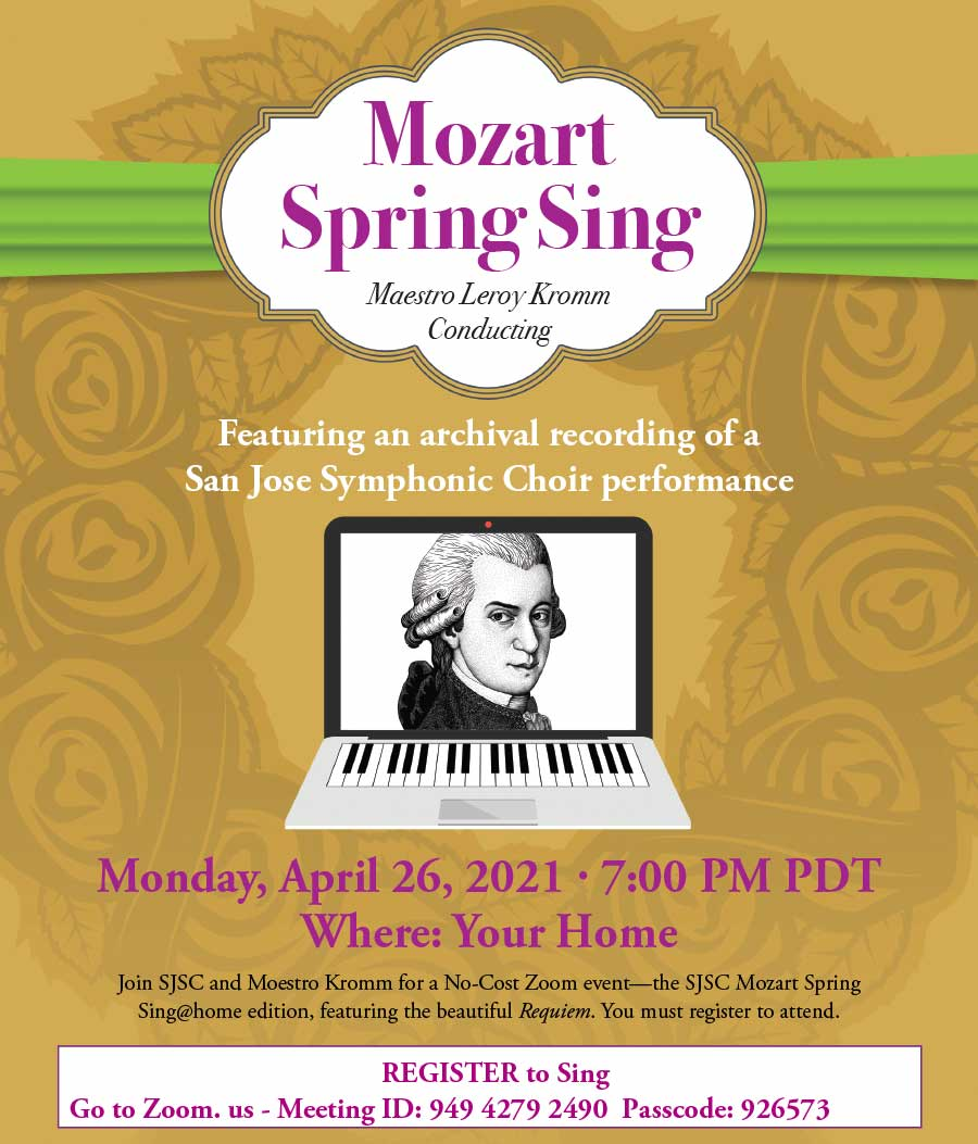 Mozart Sing Along registration form